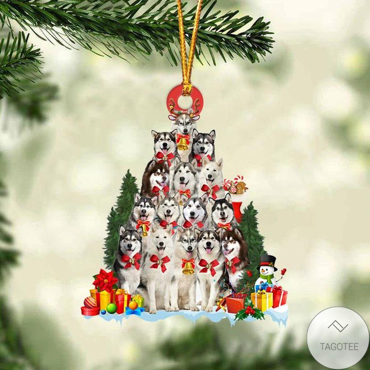 Alaskan Malamute Dog Christmas Tree Ornament