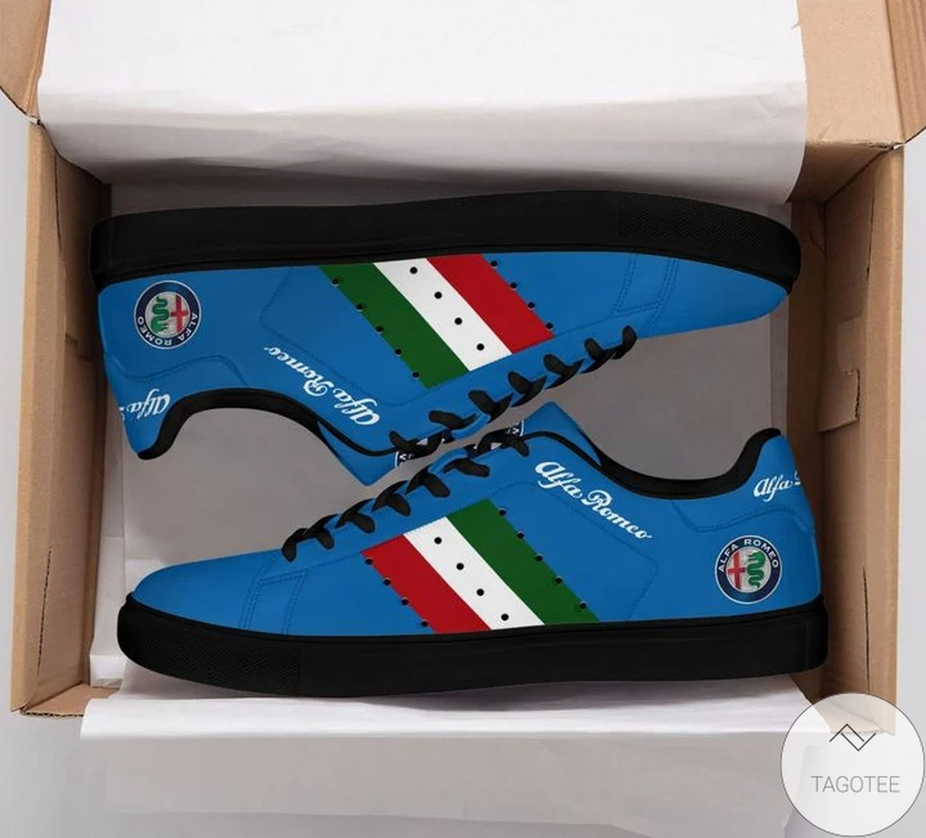 All Over Print Alfa Romeo Blue Stan Smith Shoes