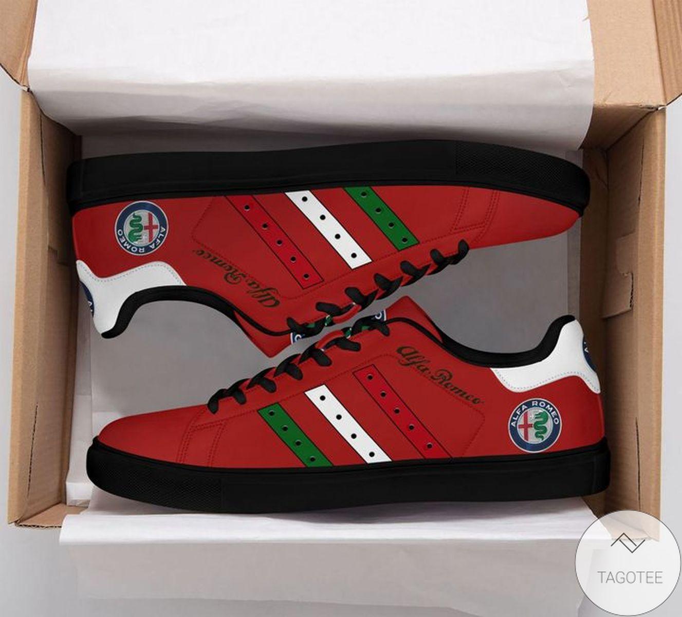 Alfa Romeo Red Stan Smith Shoes