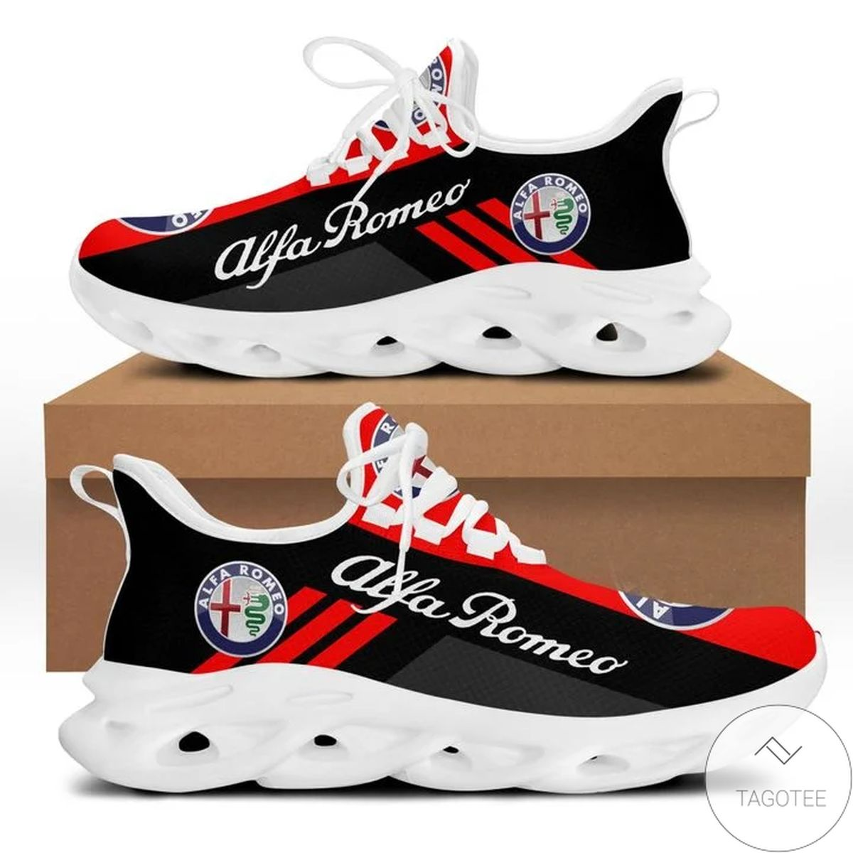 Review Alfa Romeo Red Yeezy Running Sneaker Max Soul Shoes