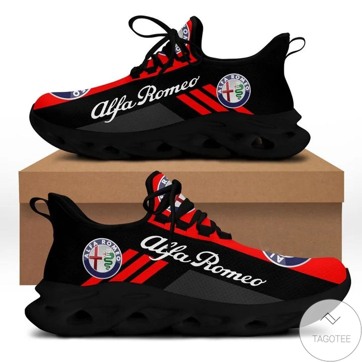 Alfa Romeo Red Yeezy Running Sneaker Max Soul Shoes