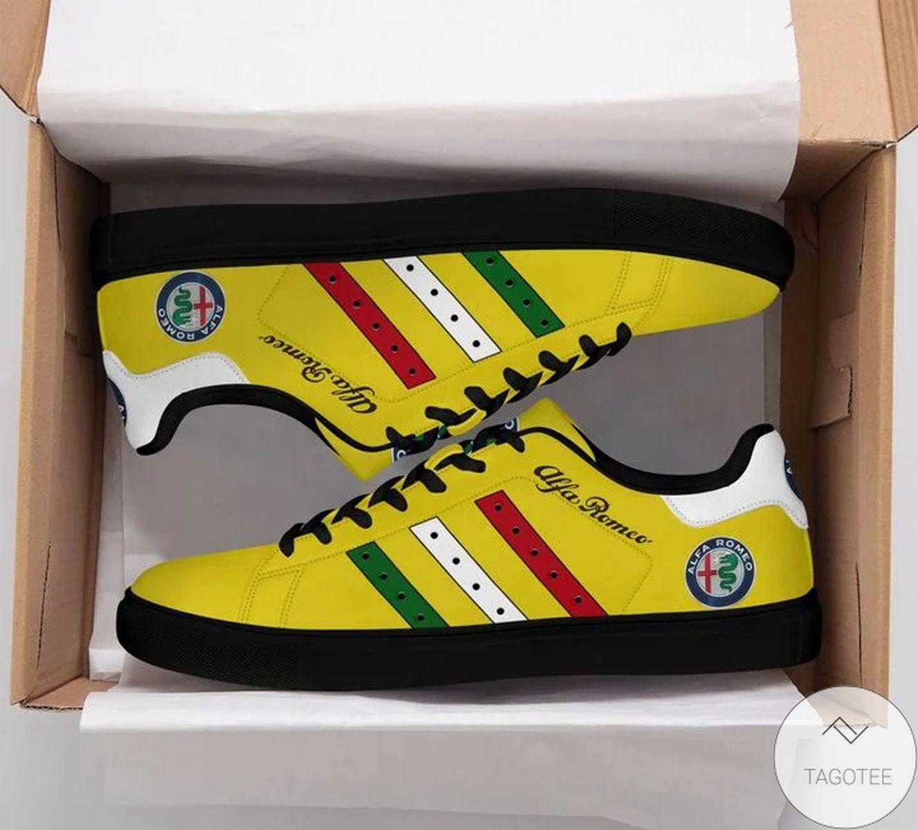 Alfa Romeo Yellow Stan Smith Shoes