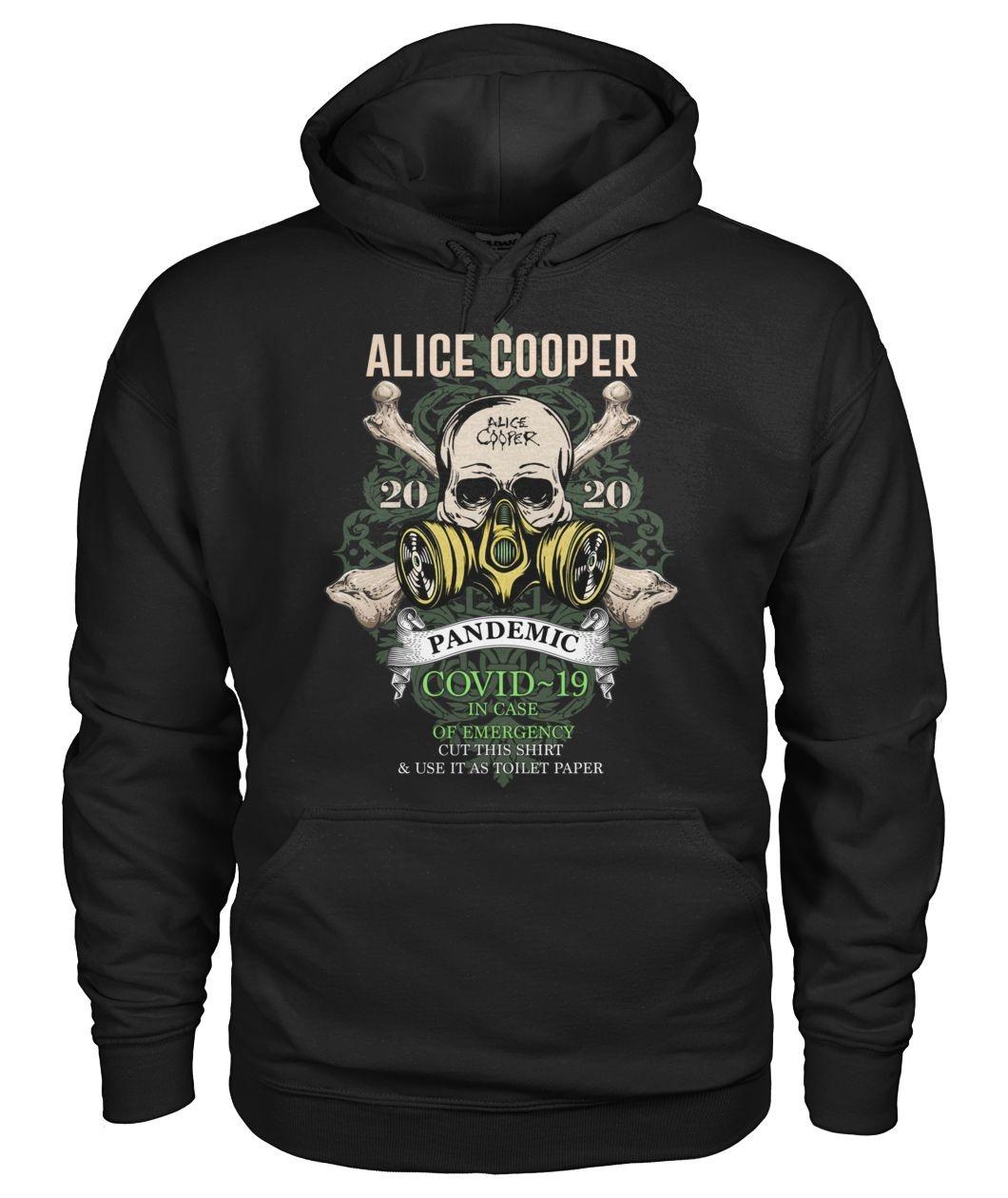 Alice Cooper Skull 2020 Covid-19 Pandemic hoodie