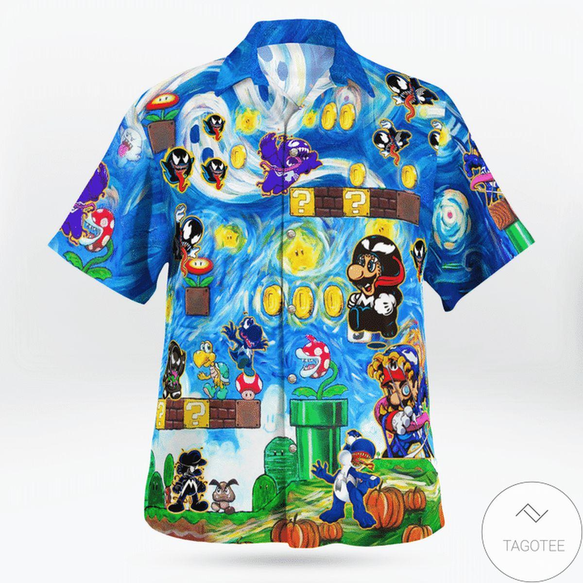 eBay Amazing Mario Venom World Funny Hawaii Shirt