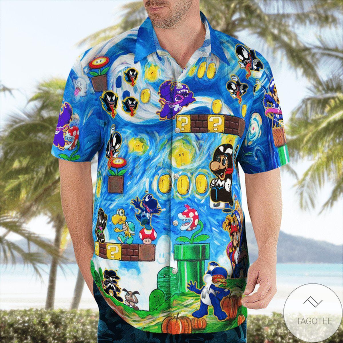 Adult Amazing Mario Venom World Funny Hawaii Shirt
