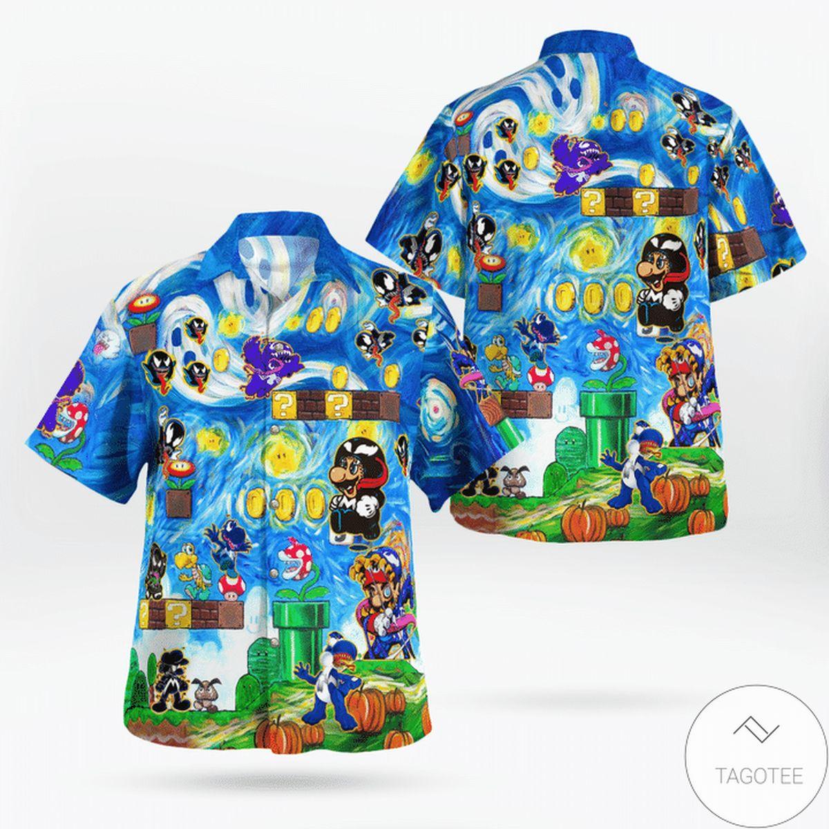 Father's Day Gift Amazing Mario Venom World Funny Hawaii Shirt