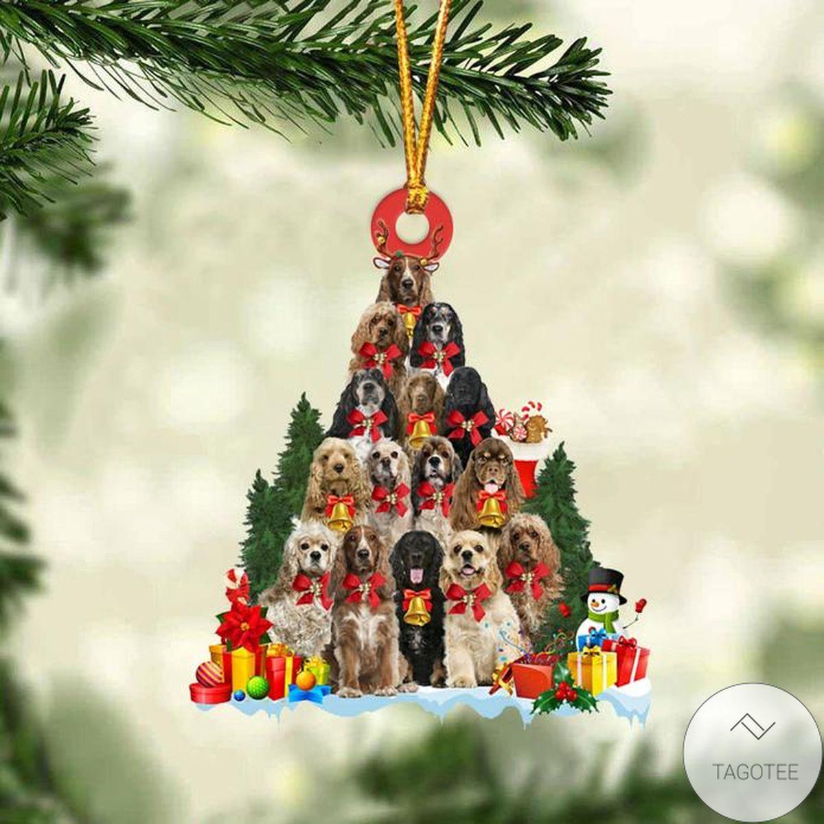 American Cocker Spaniel Dog Christmas Tree Ornament