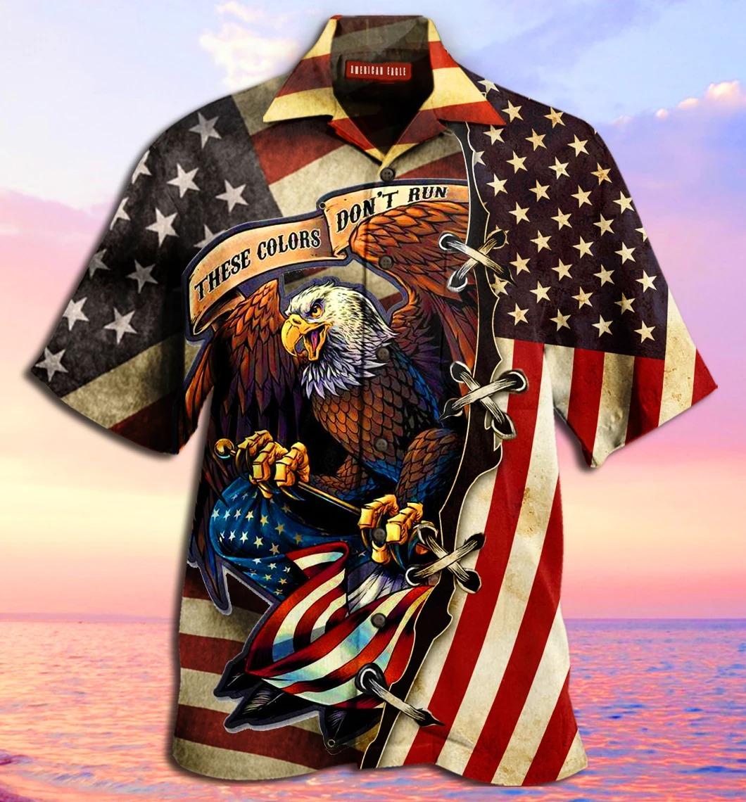 American Eagle These colors don't run 3D Hawaiian shirt