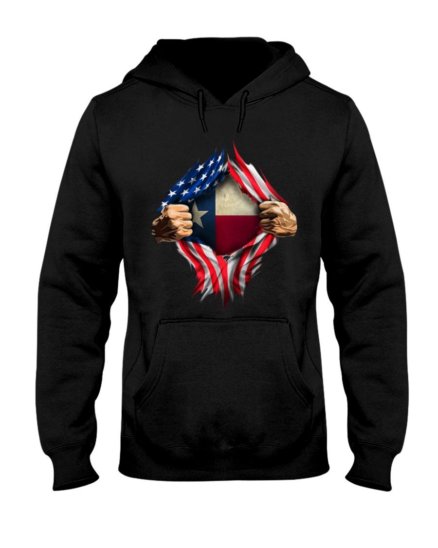 American Flag Texas Proud Inside me hoodie