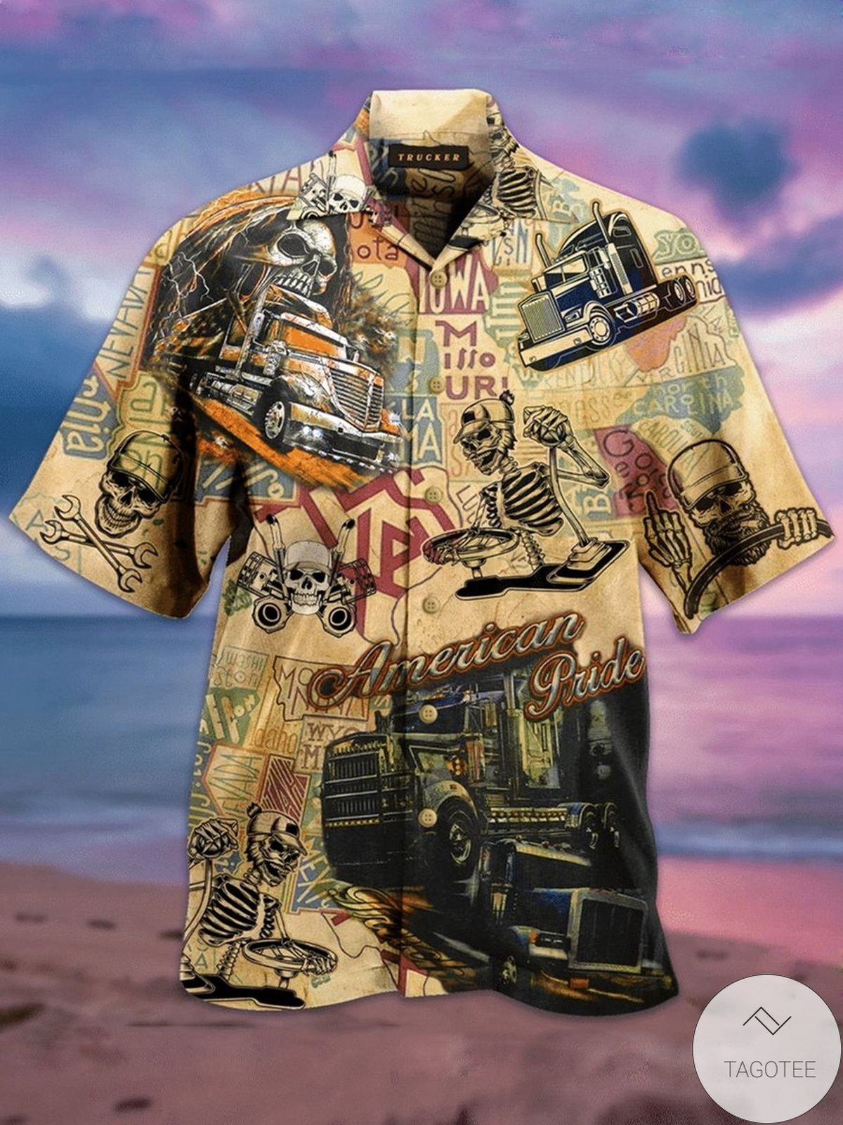 American Pride Trucker Vintage Hawaiian Shirt