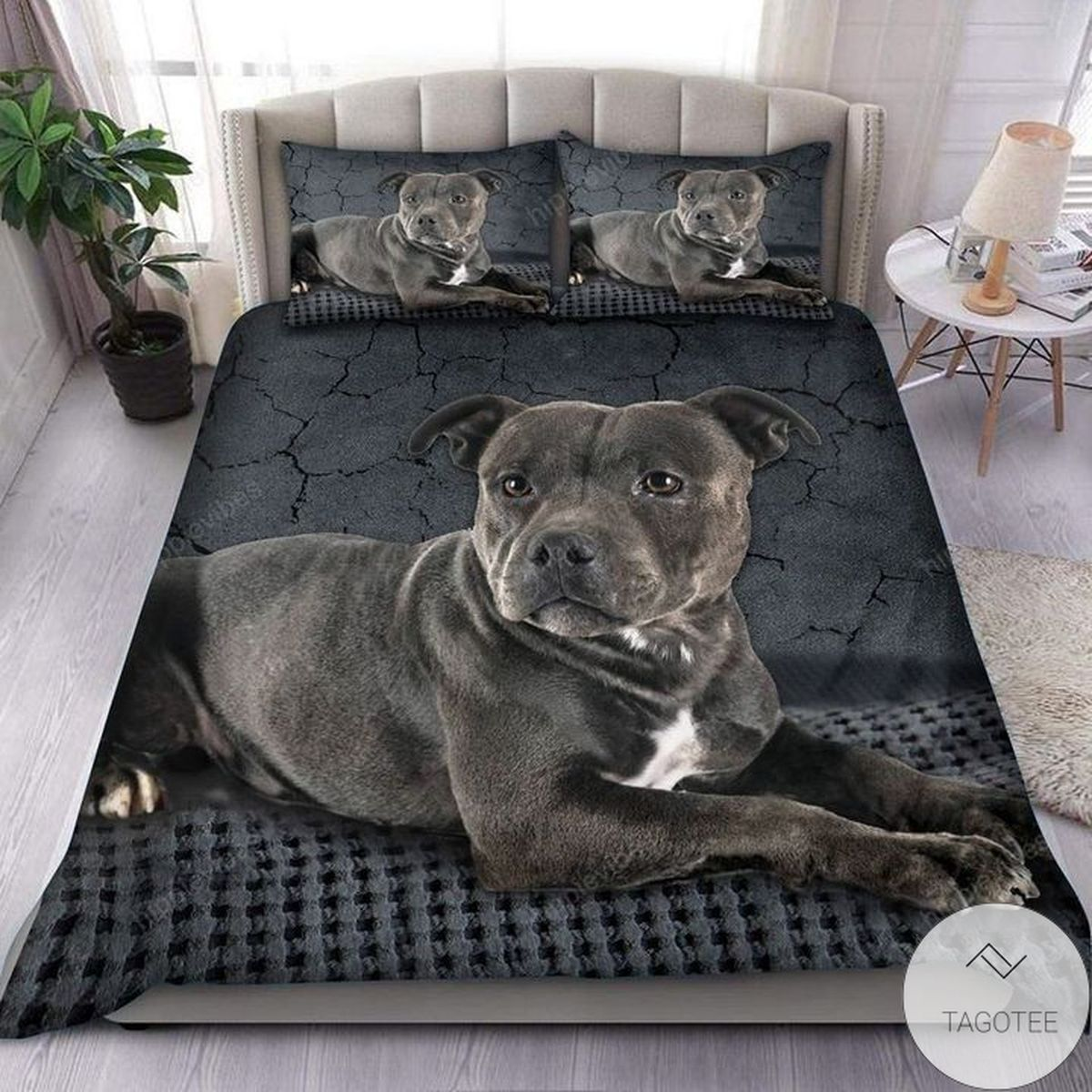 Adorable American Staffordshire Terrier 3d All Over Printed Bedding Set