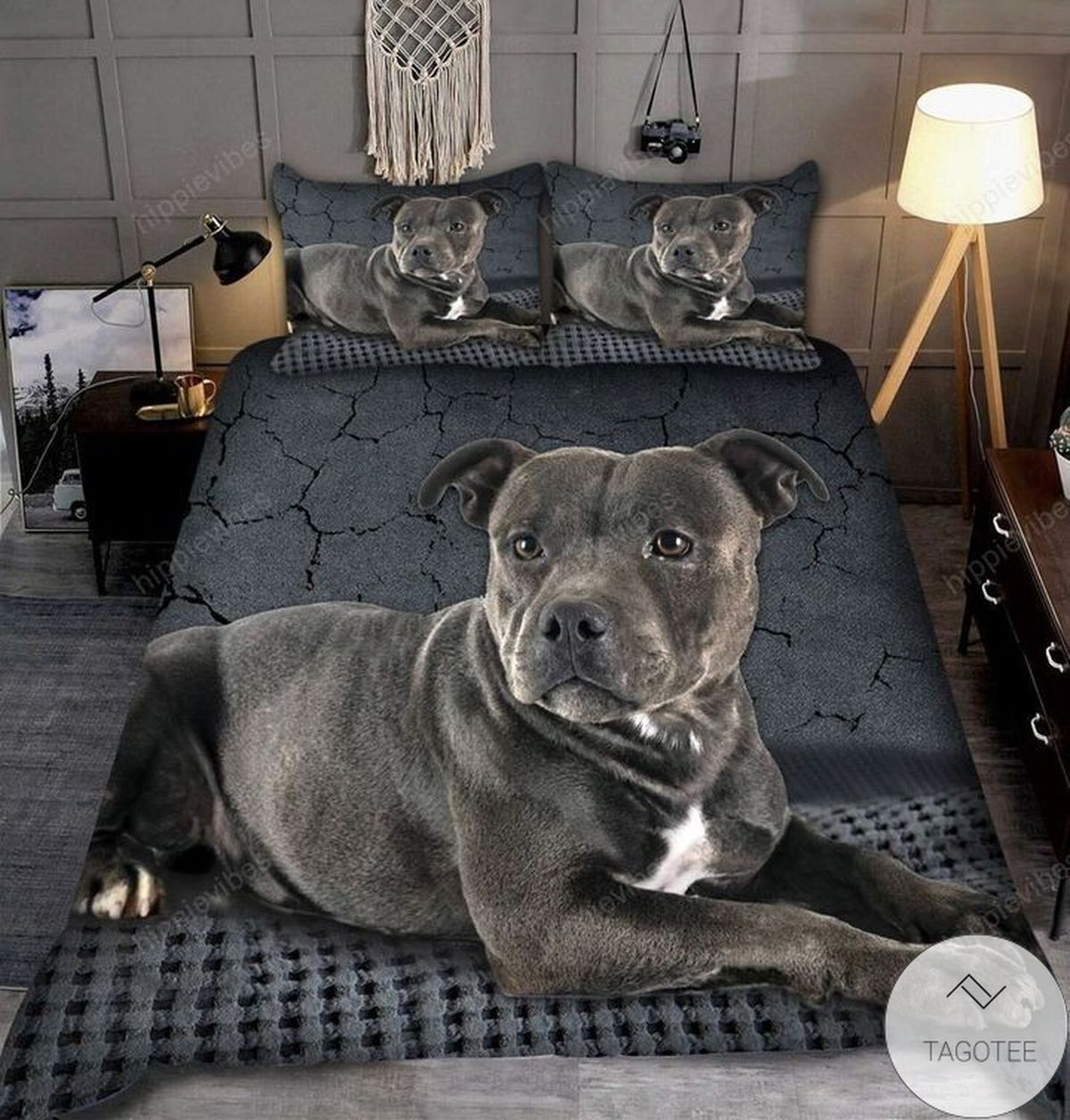 American Staffordshire Terrier 3d All Over Printed Bedding Set