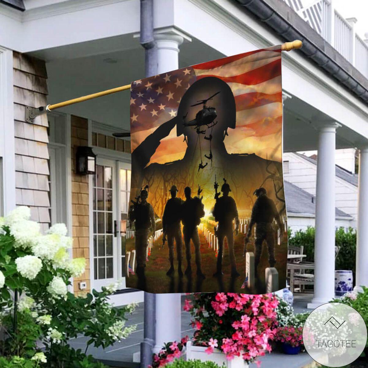 American Veteran Beyond Future Flag