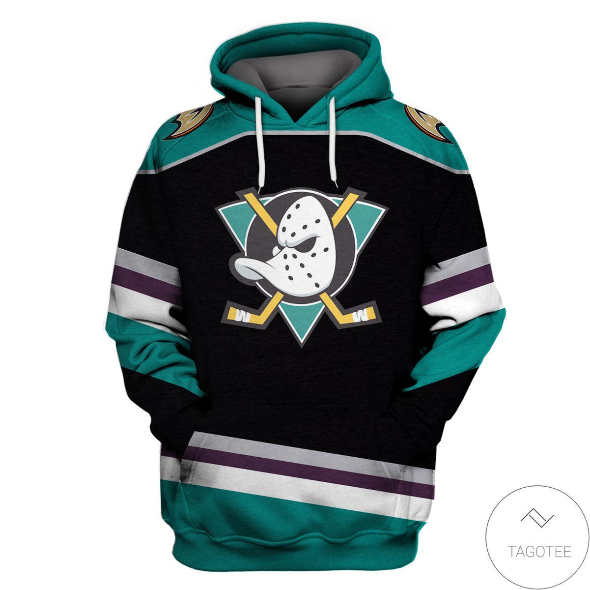 Anaheim Ducks Branded Team 3d Hoodie