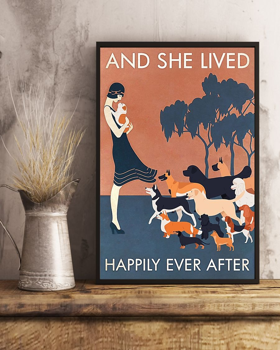 And she lived happily ever after Dog poster 1