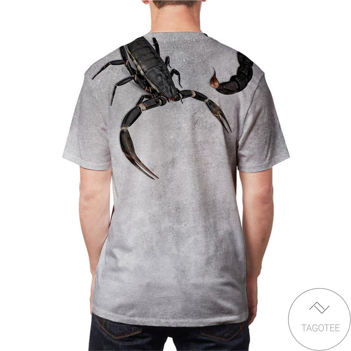 Excellent Animal Print Scorpion 3d Graphic Printed Short Sleeve Shirt