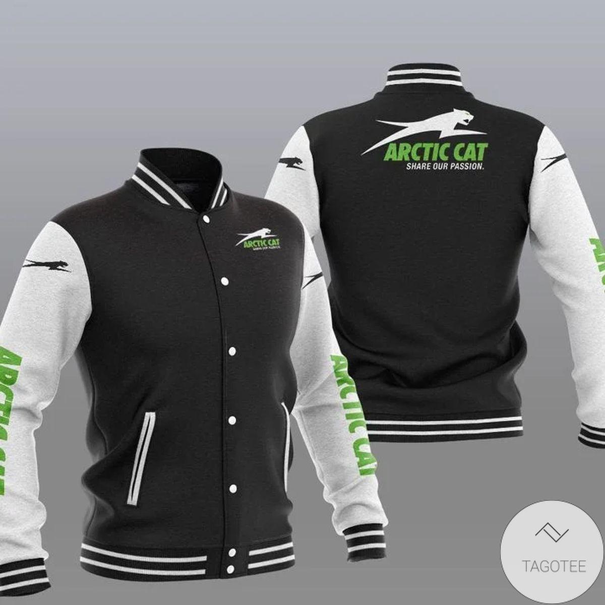 Hot Deal Arctic Cat Varsity Baseball Jacket