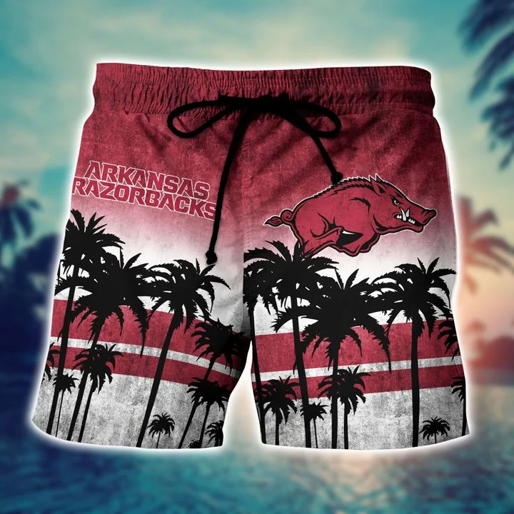 Adorable Arkansas Razorbacks Tropical Hawaiian Shirt, Beach Short