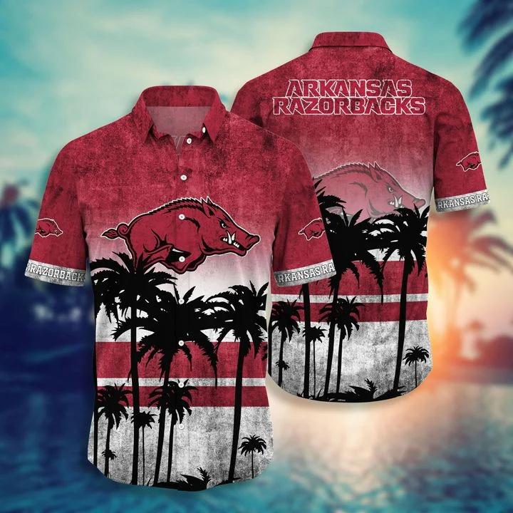 Free Ship Arkansas Razorbacks Tropical Hawaiian Shirt, Beach Short