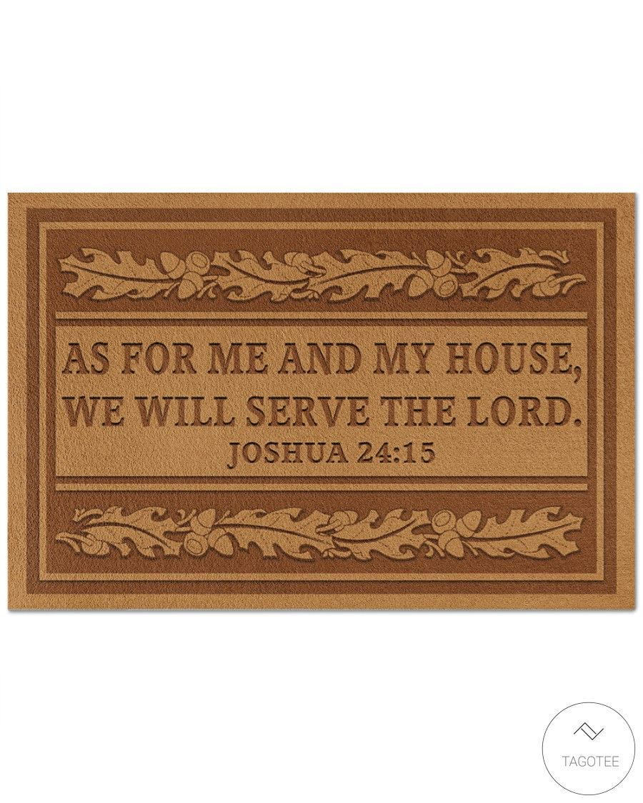 As For Me And My House We Will Serve The Lord Doormat 2