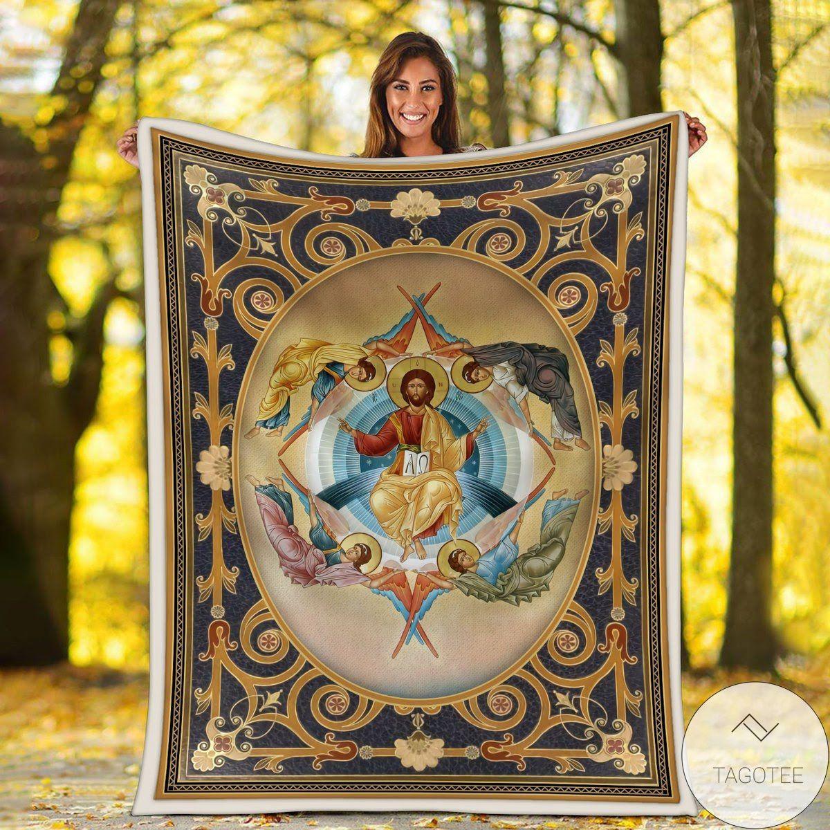 Ascension Of Christ Blanket