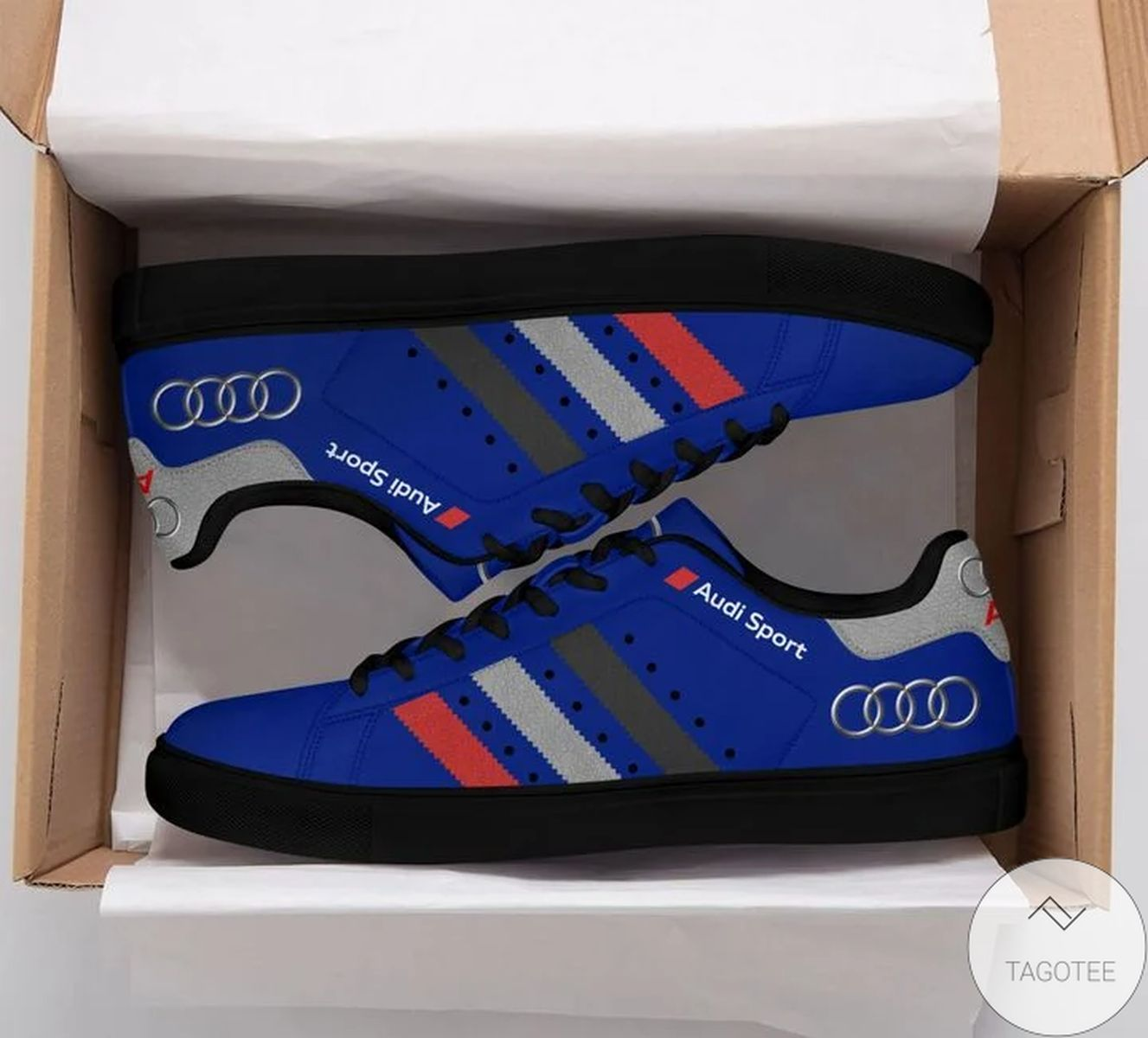 Hot Audi Sports Blue Stan Smith Shoes