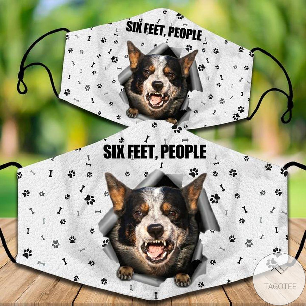 Australian Cattle Dog Six Feet People Face Mask