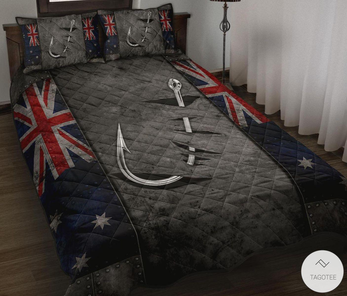 Australian Fishing Flag Quilt Bedding Set