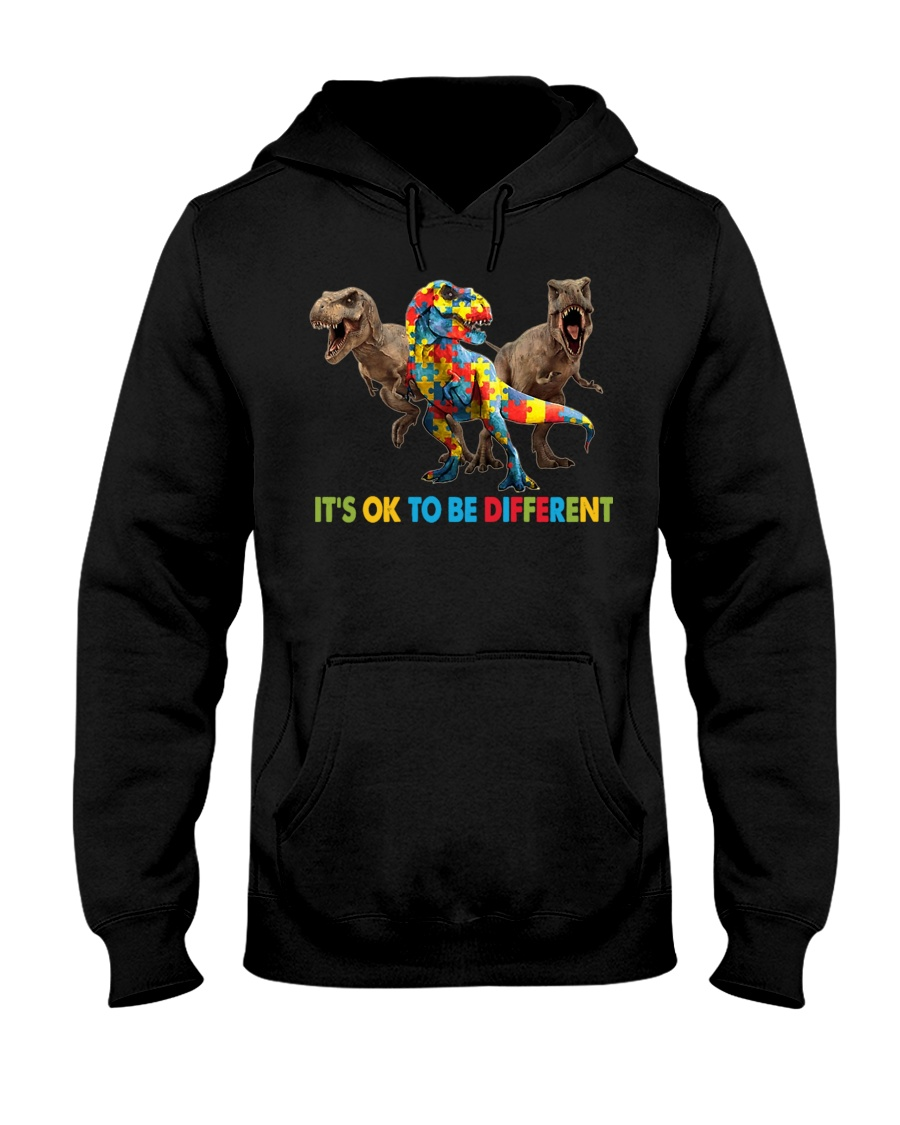 Autism It's Ok To Be Different Dinosaurs hoodie