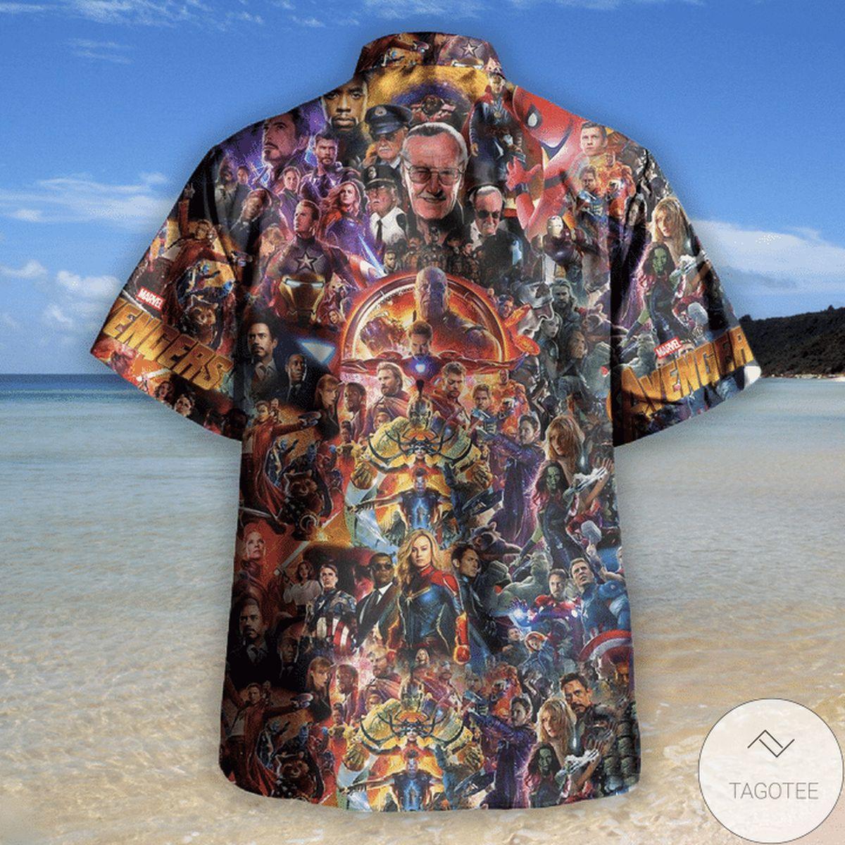 Awesome Avengers I Love You 3000 Unisex Hawaiian Shirt