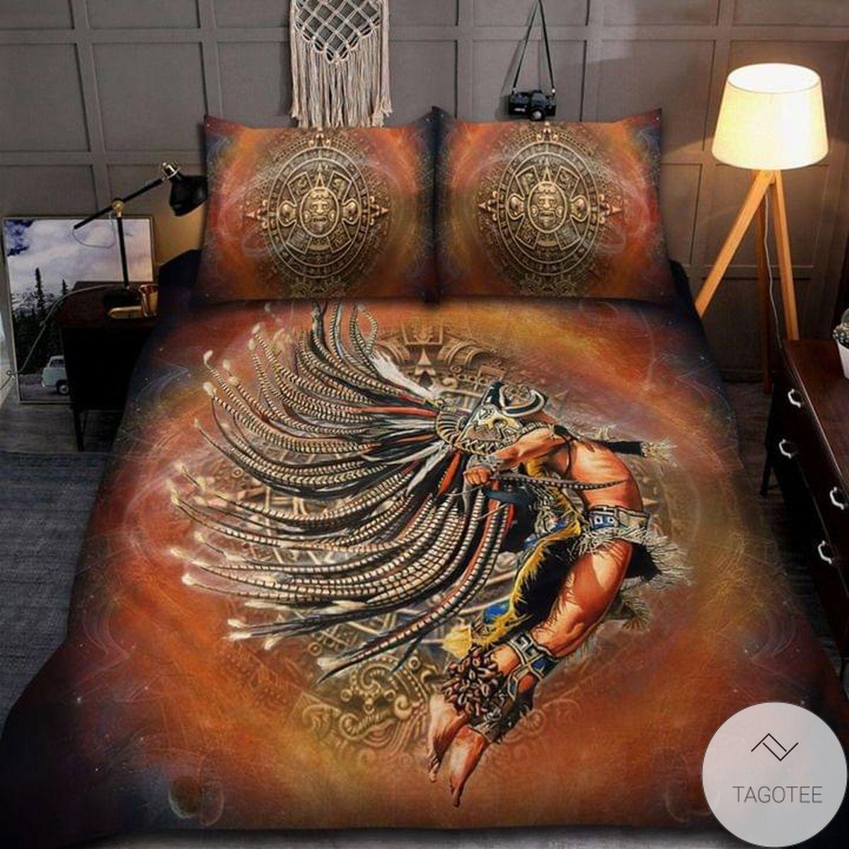 Aztec Warrior Jumping Flying Bedding Set