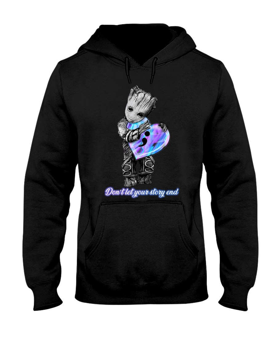 Baby Groot Don't let your story end Hoodie