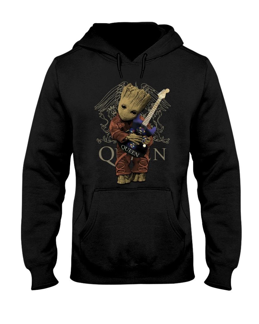 Baby Groot hug Queen hoodie