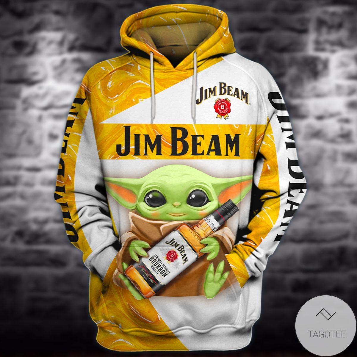 Baby Yoda Jim Beam Whiskey 3d Hoodie