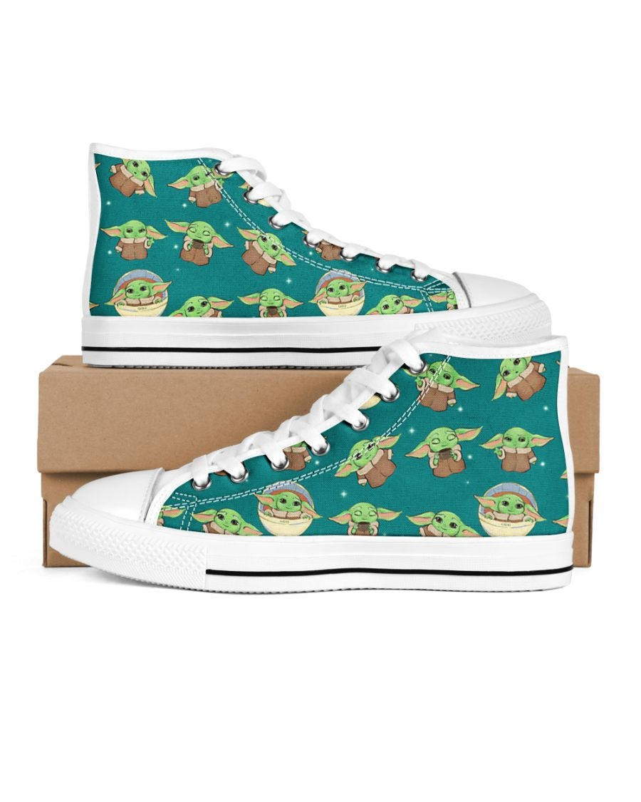 Baby Yoda Pattern Low Top shoes3