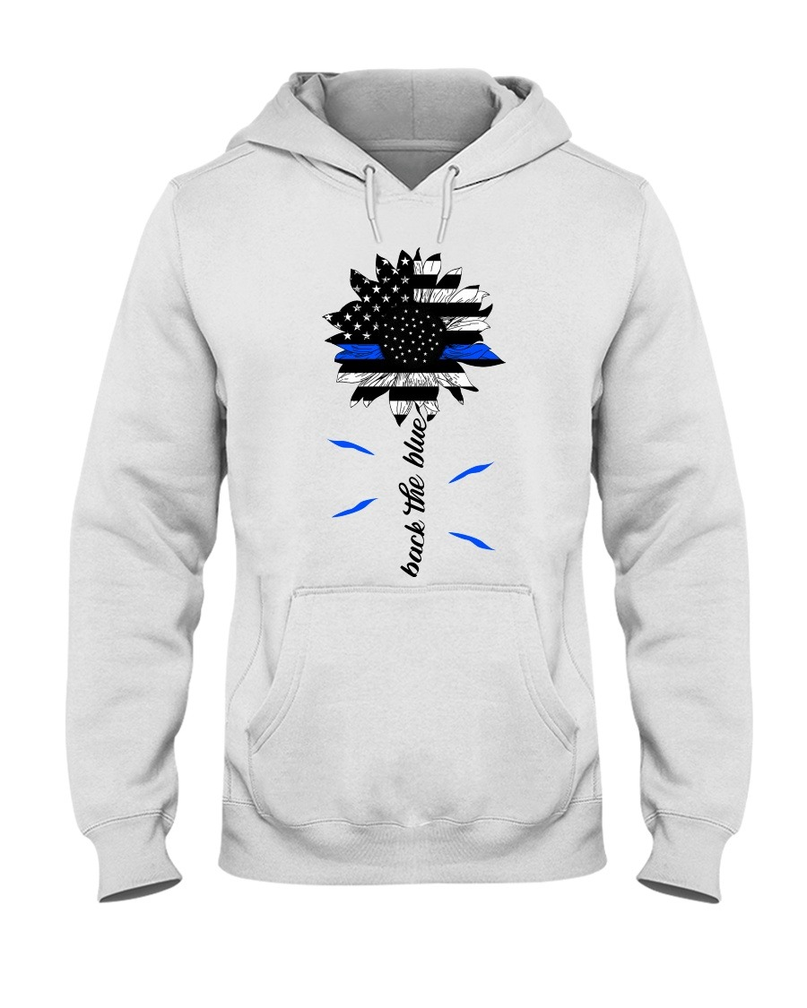 Back the blue Sunflower Thin Blue Line Hoodie