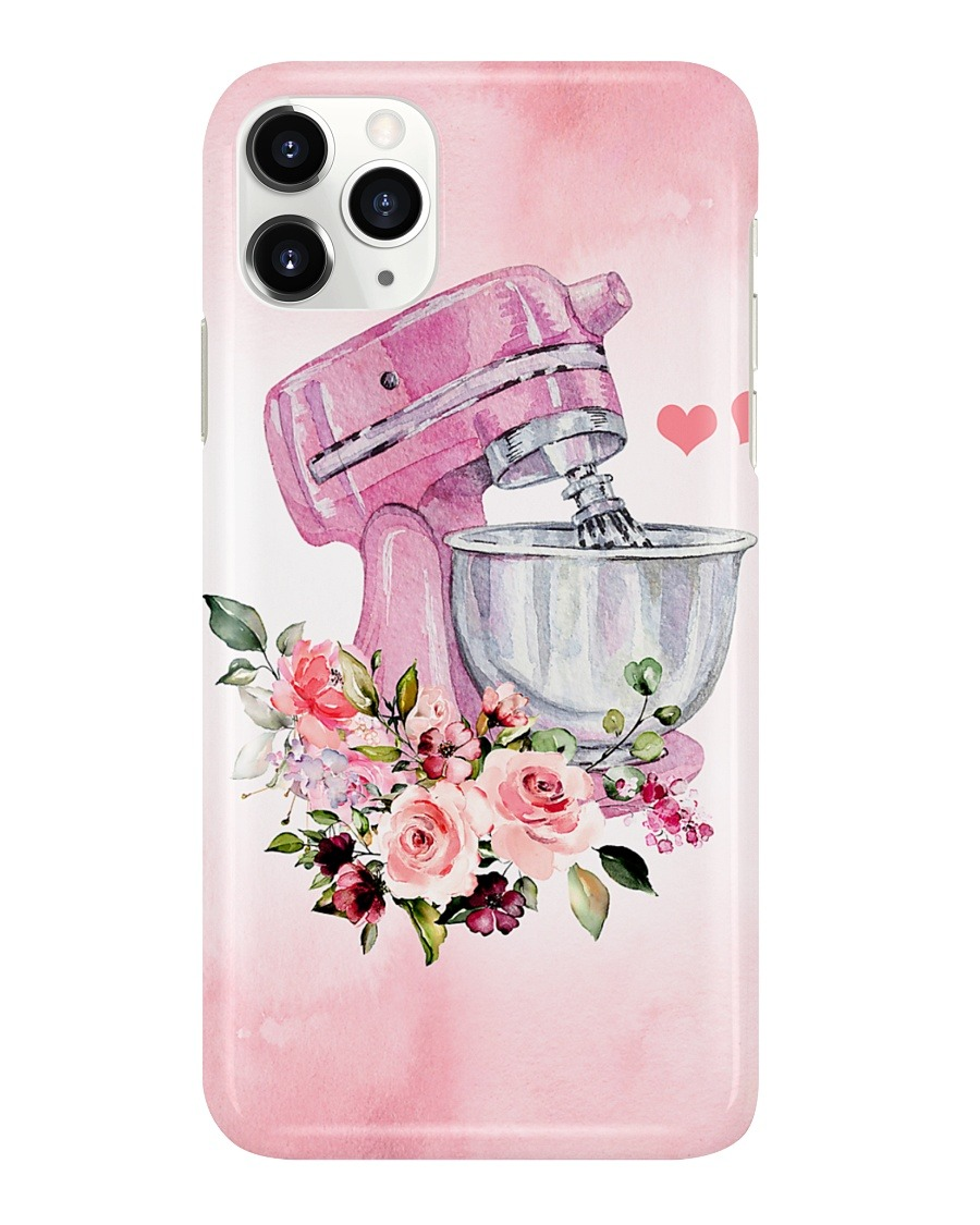 Baking Pink Flowery Electric Mixer Phone case 11