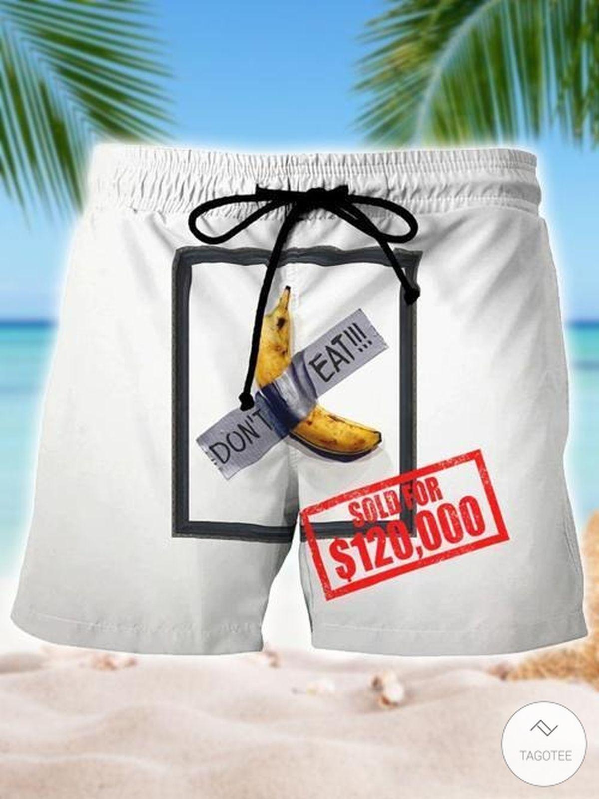 Banana Don't Eat Swim Trunks Beach Shorts