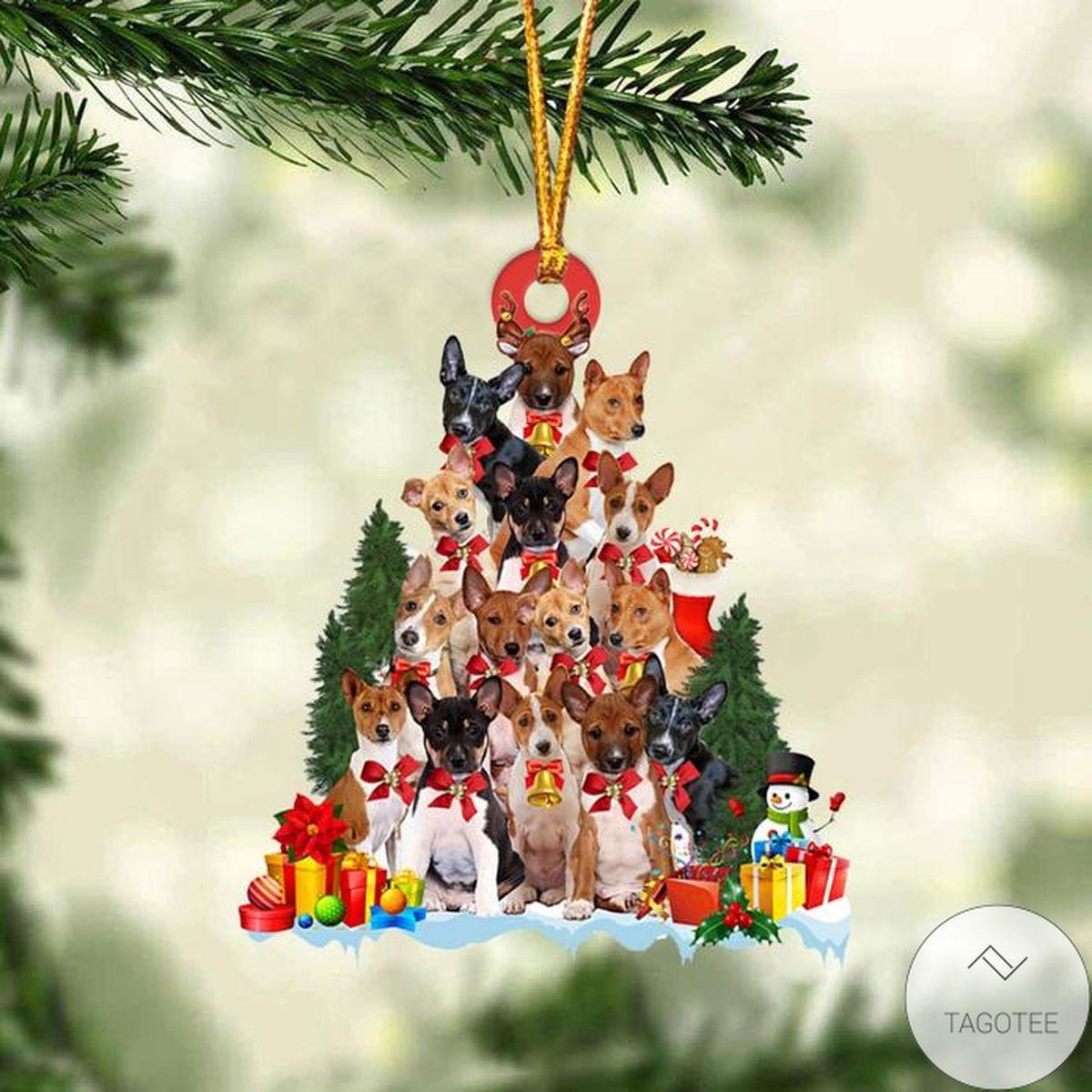 Basenji Dog Christmas Tree Ornament