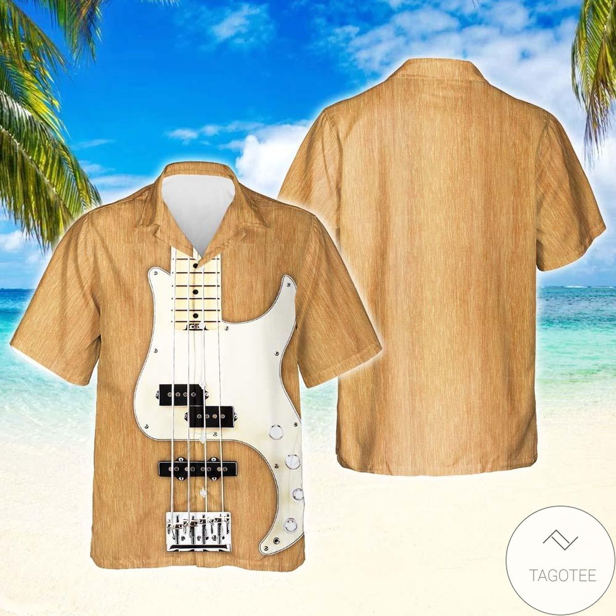 Bass Guitar Hawaiian Shirt