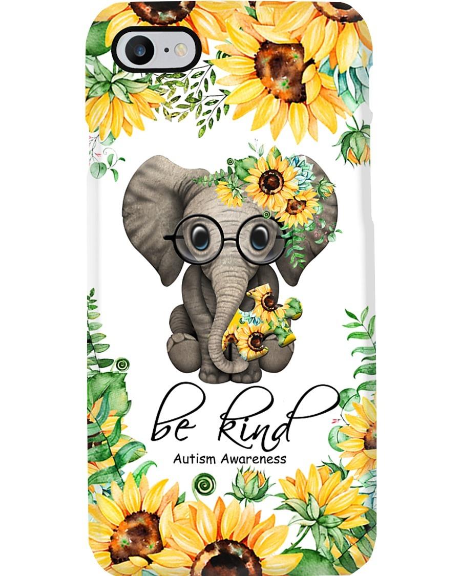 Be kind Autism Awareness Elephant Sunflower phone case 7