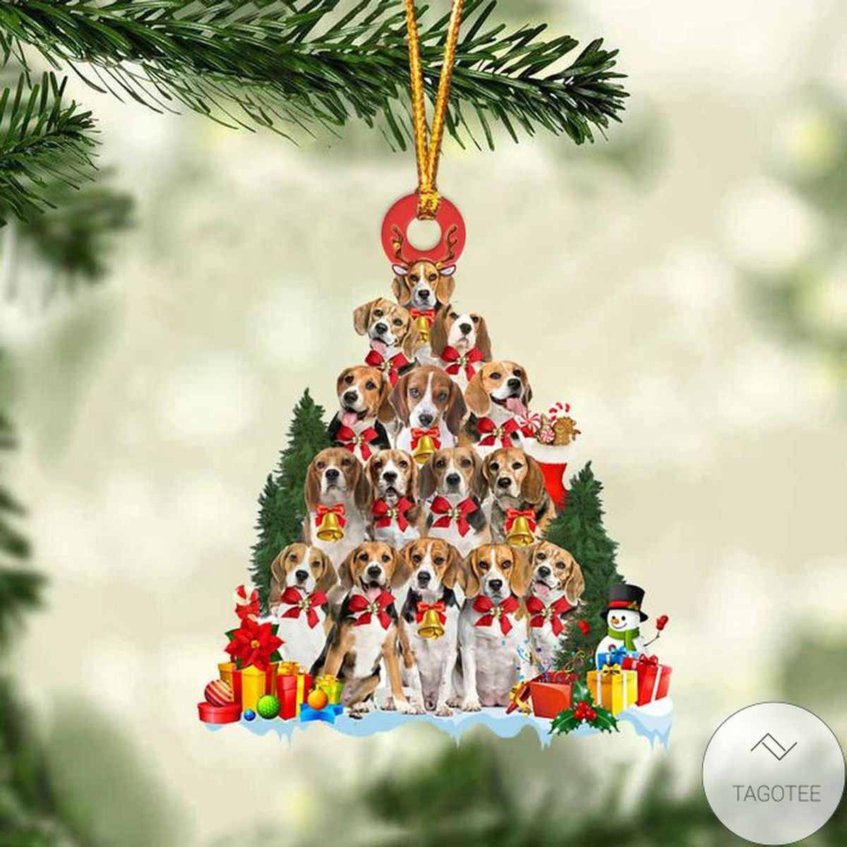 Limited Edition Beagle Dog Christmas Tree Ornament