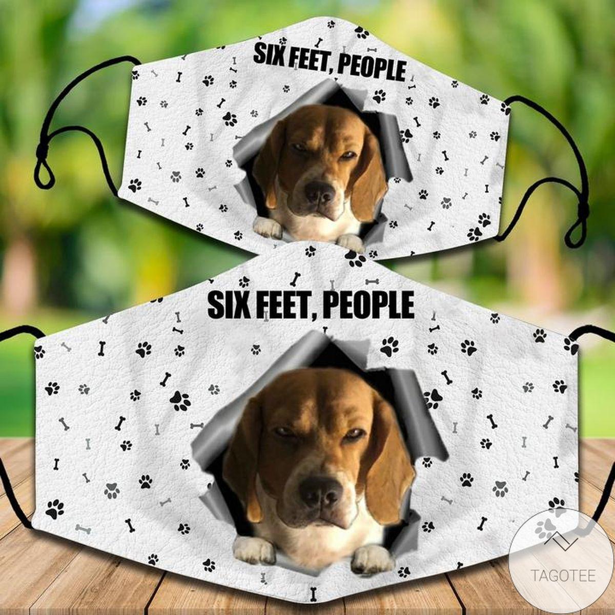 Beagle Dog Six Feet People Face Mask