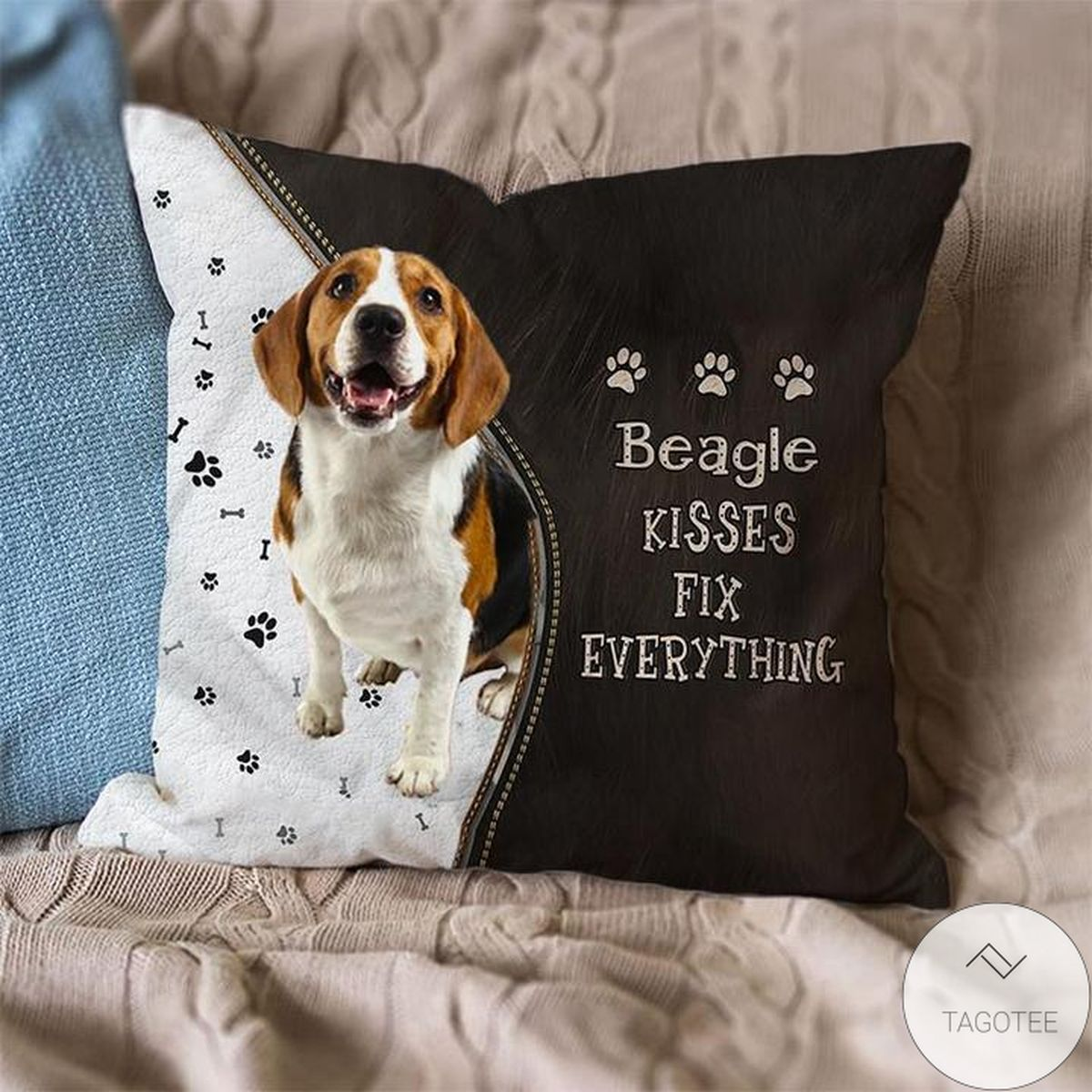 Great Quality Beagle Kisses Fix Everything Pillowcase