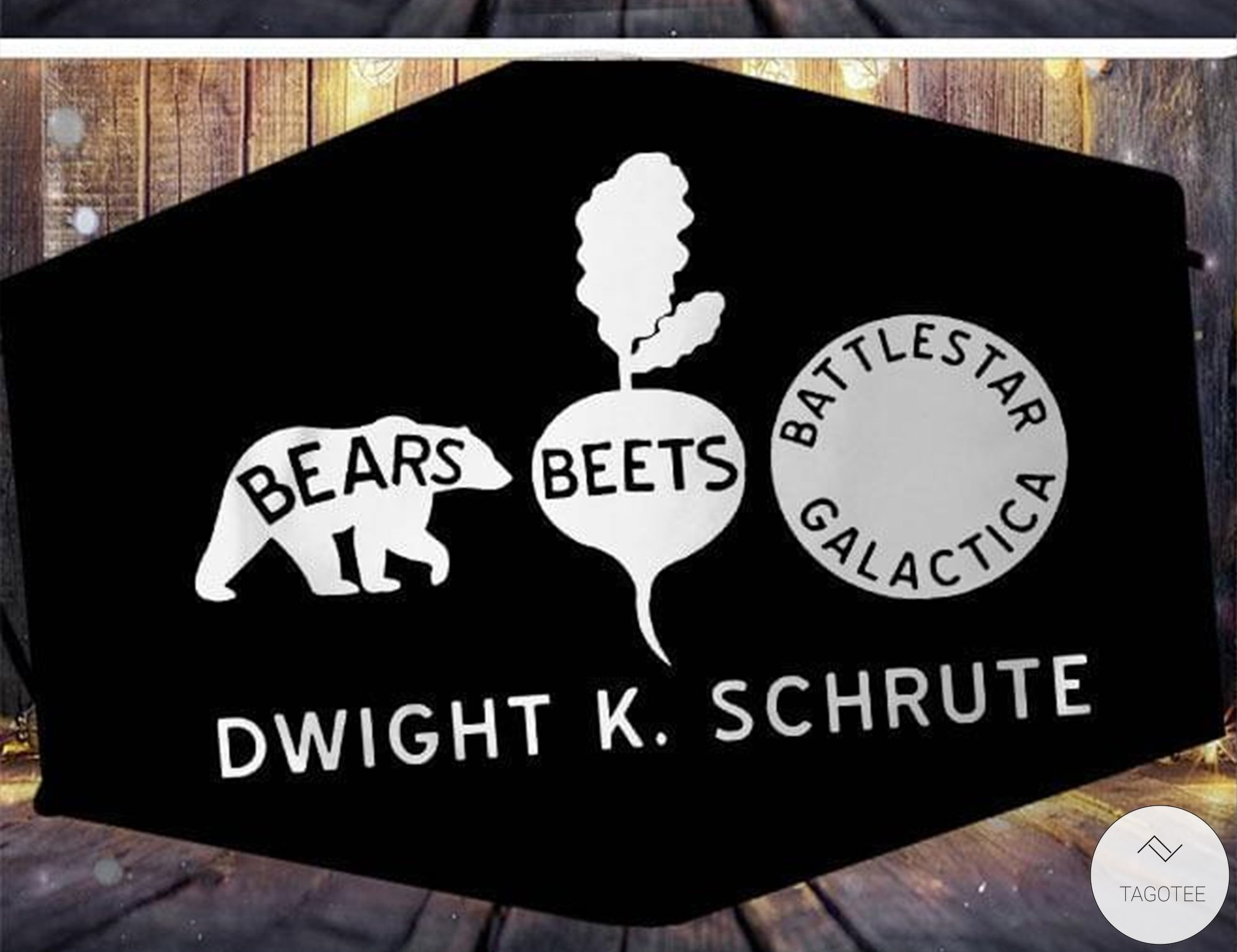 Bears Beets Battlestar Galactica Dwight K Schrute Face Mask