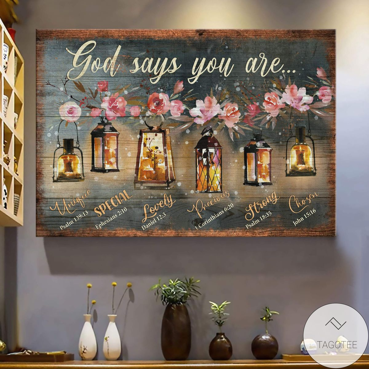 Beautiful Old Lamps God Says You Are Jesus Canvas