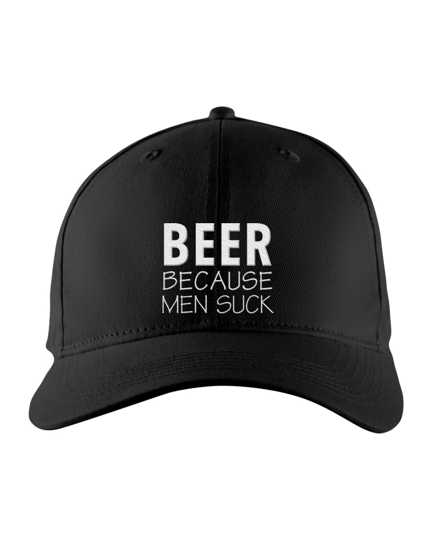Beer Because Men Suck Embroidered Hat