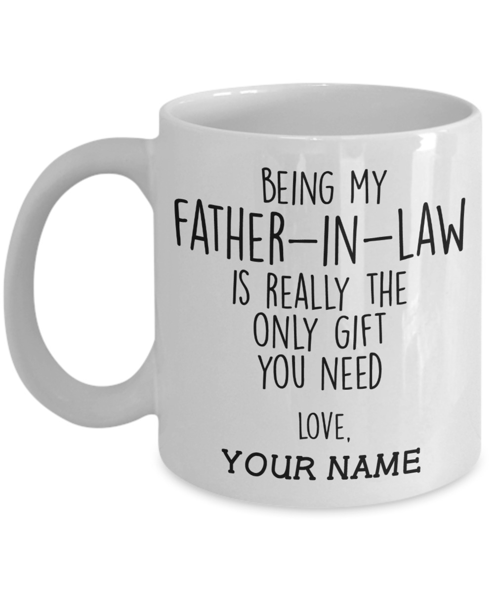 Being my father in law personalized mug