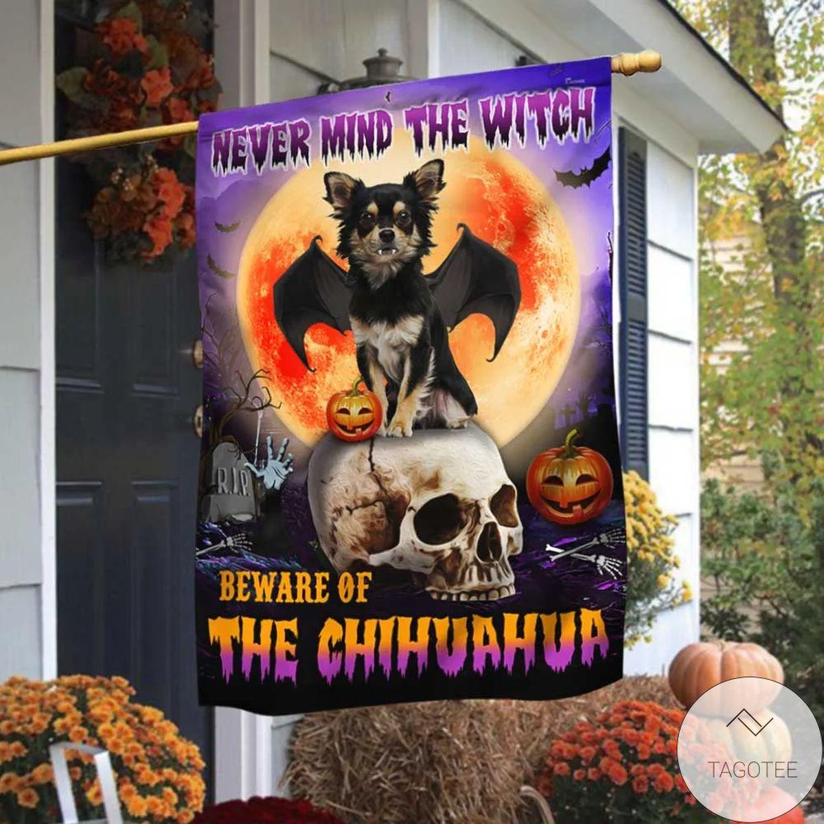 Beware Of The Chihuahua Halloween Flag