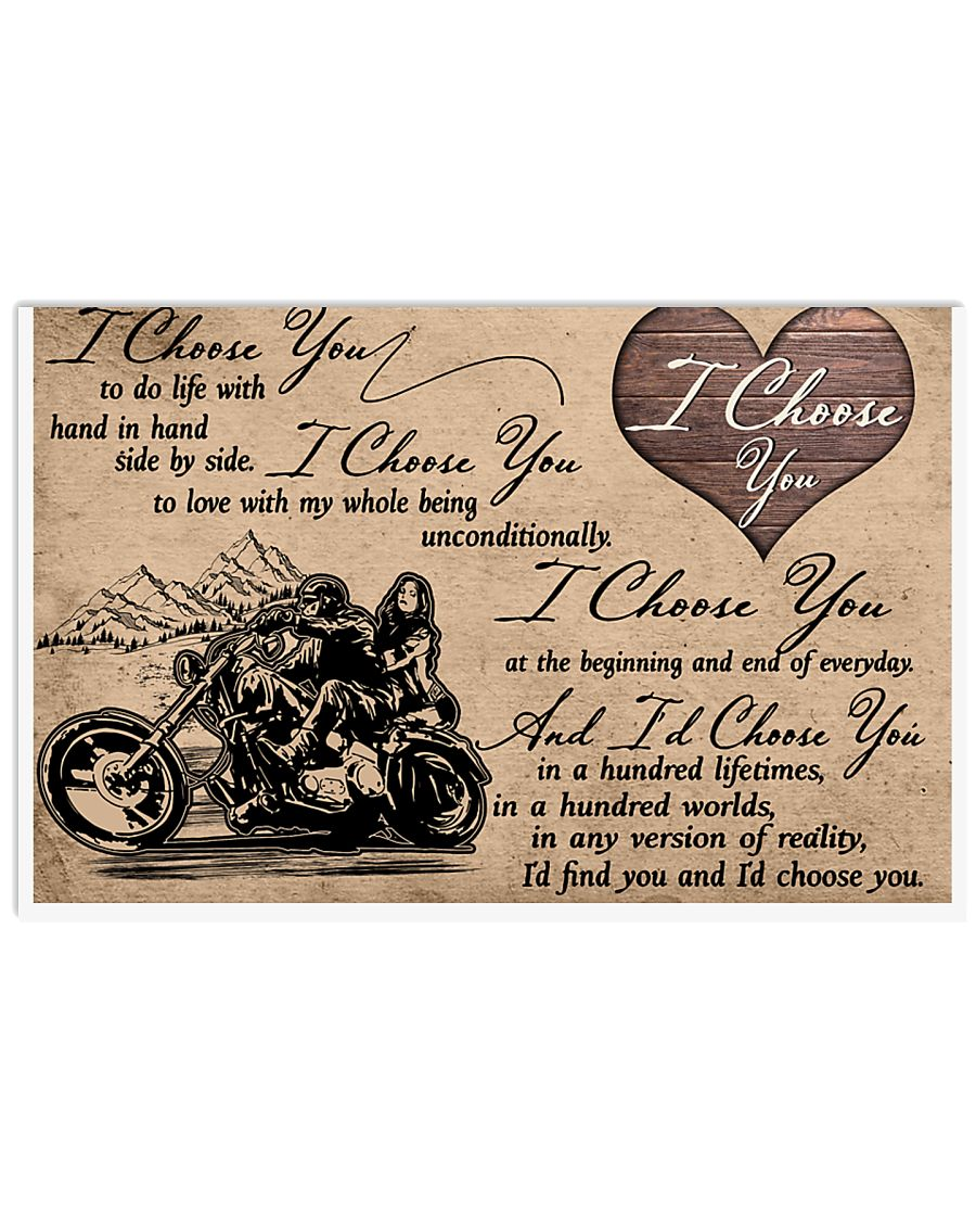 Biker I choose you to do life with hand in hand side by side poster 1